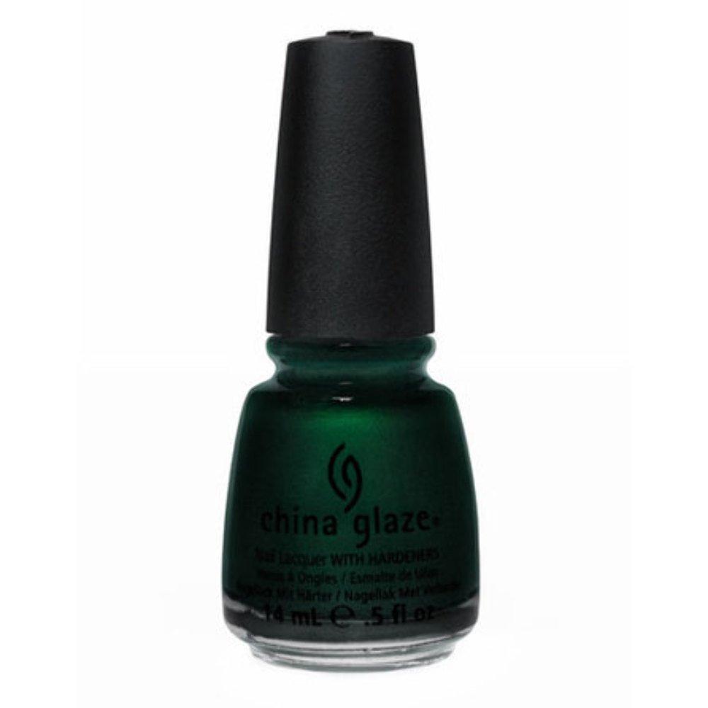 Amazon.com : China Glaze Retro Diva Nail Polish - Gussied Up Green - 0.5 oz : Dark Green Nail Polish : Beauty