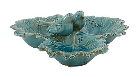 Deco 79 40856 Ceramic Bird Bowl, 14
