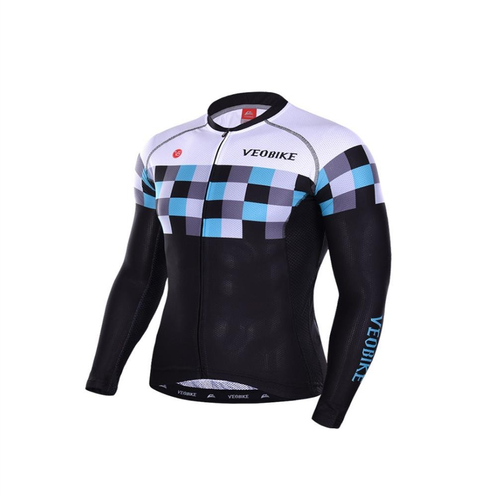 Beauty leader Male Cycling Jersey Long Sleeve Long Pants with 3DThree-dimensional Silica Gel Cushion