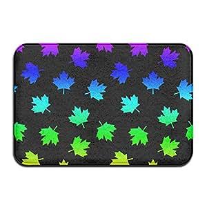 Patrón de hojas canadiense Vector arte ilustración antideslizante Felpudo piso Felpudo para interior Outerdoor baño 23,6x 15,7pulgadas