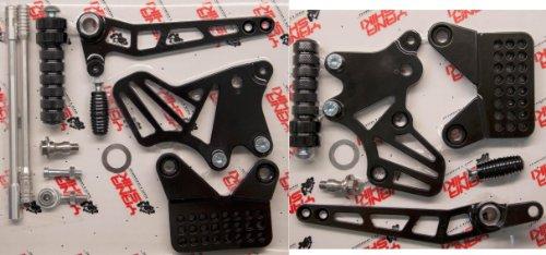 - Yana Shiki RS4055B Performance Series Black Finish Rear Set for Kawasaki ZX-6R