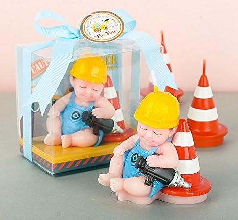 Amazon.com: meoly Creative ingeniero bebé encantador Vela de ...