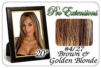 Amazon pro extensions 20 427 brown w blonde highlights pro extensions 20quot 427 brown w blonde highlights premier remy human pmusecretfo Images