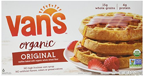 Van's Simply Delicious Whole Grain Organic Waffles, Totally Original, 6 Count (Frozen)