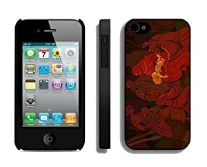 Popular Design Iphone 4S Protective Skin Case Merry Christmas iPhone 4 4S Case 61 Black