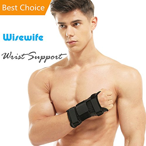 Wrist Support Brace - Recovery Wrap for Carpal Tunnel Tendonitis Arthritis Wrist Pain Sport Injury with Removable Splint Thumb Stabilizing - Adjustable Hands Stablizer