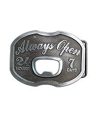 Landisun Handmade Always Open Bottle Opener Belt Buckle