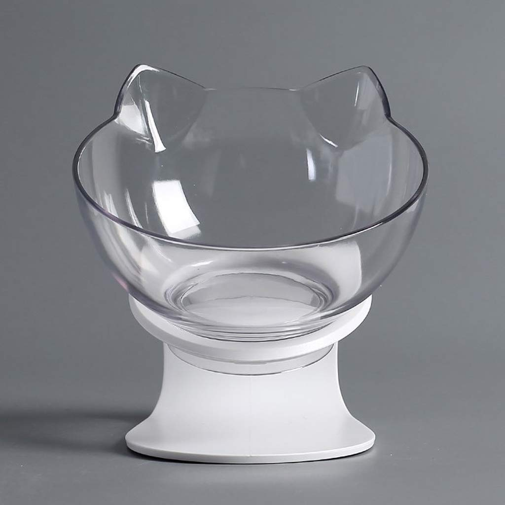 CQ Cat Ears Cat Bowl Oblique Mouth Drinking Water Cat Food Bowl Pet Bowl Dog Bowl Cat Supplies Small Dog