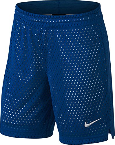 NIKE Big Girls' (7-16) Dri-Fit 7'' Mesh Training Shorts-Blue/Grey-Medium