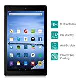 Fire HD 10 Screen Protector, Nimaso Tempered Glass Screen Protector for Amazon Fire HD 10 (2017, 2015) with [ 9H Hardness ] [Crystal Clear ] [ Bubble-Free Installation ] [ Anti-Fingerprint ]