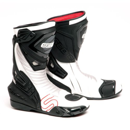 SEDICI Ultimo Leather Motorcycle Boots - 12, White