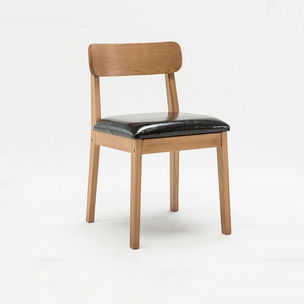 DALL ダイニングチェア ソリッドウッドチェアフレーム 高品質PU素材 組み立てることができます 簡単に清掃する 背もたれレジャー木製椅子 (色 : 2) B07DCPW3ZF2