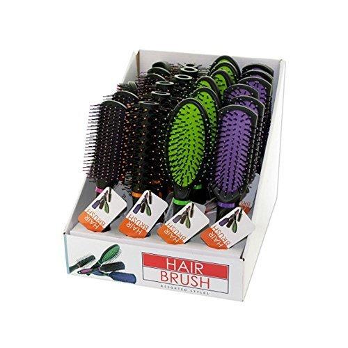 Bulk Buys Stylish Hair Brush Countertop Display Case Of 24 by Kole Imports