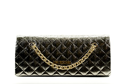 Love Moschino pu Quilted pochette pewter