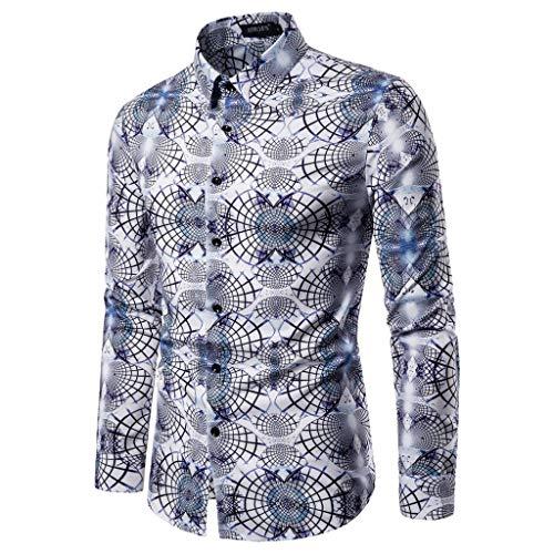 Mens Button Down Shirts Long Sleeve Shirts, MmNote Casual 3D Printing Slim Cool Quick Long Sleeve Tops(S-XXL) (Hybrid Microfiber Blazer)
