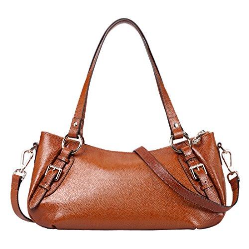 AINIMOER-Leather-Large-Purse-Vintage-Shoulder-Bag-Top-handle-Tote-Luggage-Cross-Body-Handbag