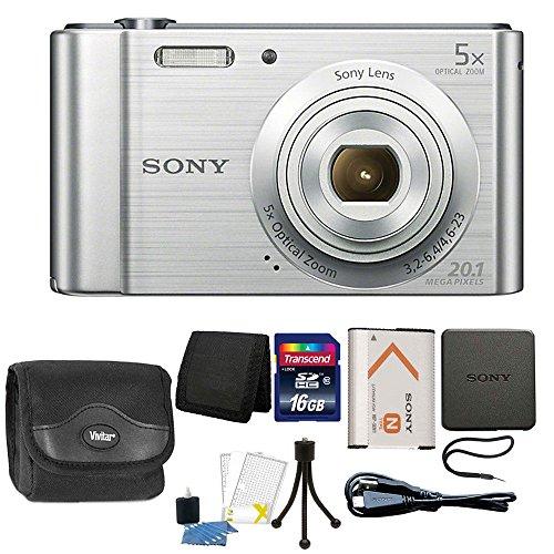 Sony Cyber-shot DSC-W800 20.1MP Digital Camera 5x Zoom Silve