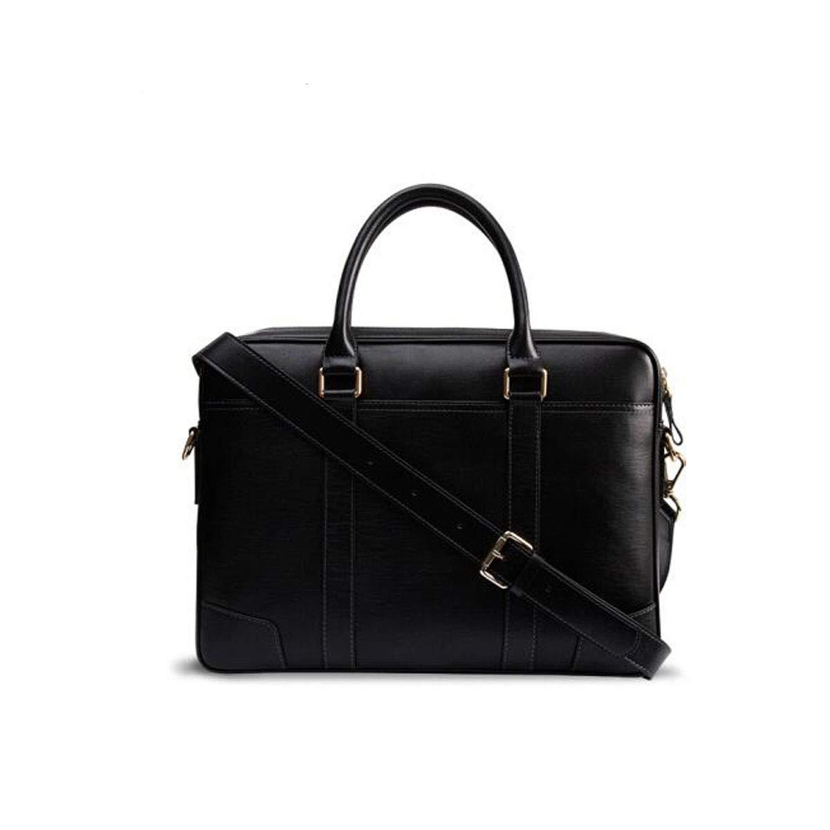 ブリーフケース、メンズスエードレザーメンズバッグ、コンピューターハンドバッグ、ブラックコーヒーサイズ:38 * 6 * 27.5 cm B07R56KZ44 Coffee color