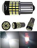 jsvsal (Pack de 2) 115611411073750610031095BA15S S25900lumens Super Bright 301478-ex Chipsets foco LED para Back Up Reverse, luces luces de freno, Luces de cola, RV, xenón blanco, DC9–30V.