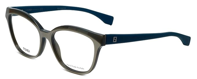 157888077e Amazon.com  FENDI Eyeglasses 0044 0MHH Navy Caramel 54MM  Clothing