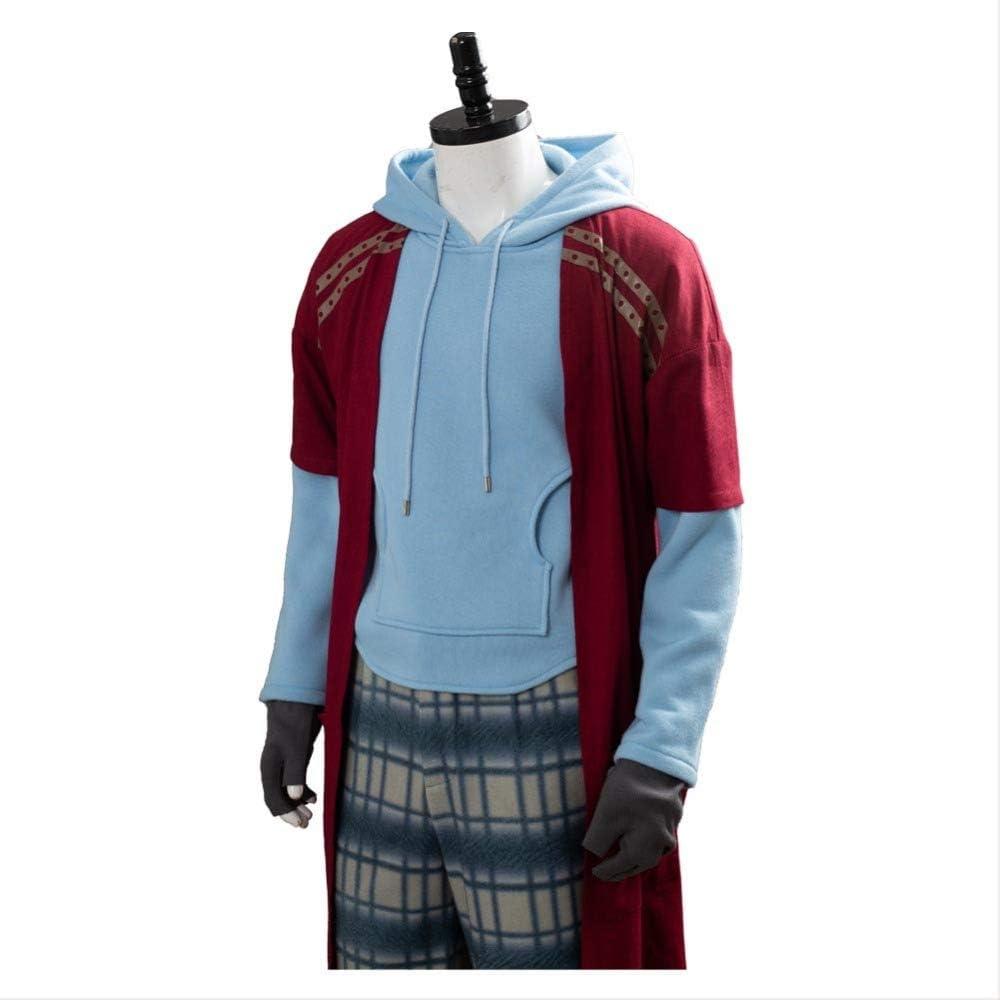 Aosida Fat Bro Halloween Costume Soft Superhero MenThor Cosplay Hooded Sweatshirt