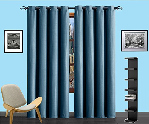 (Infinite Home Beauty one panel of energy saving blackout curtains. Creates darker, quieter atmosphere. Perfect for bedrooms, living rooms or offices. (1 Blackout Panel 54