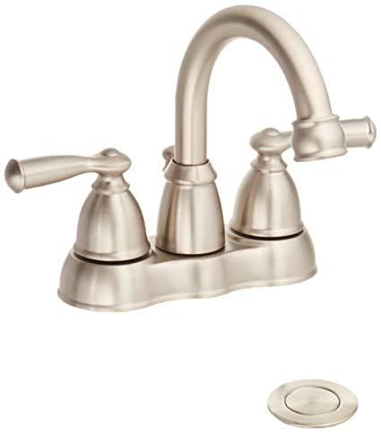 MOEN WS84913SRN Handle Hi Bath Faucet, Nickel - - Amazon.com