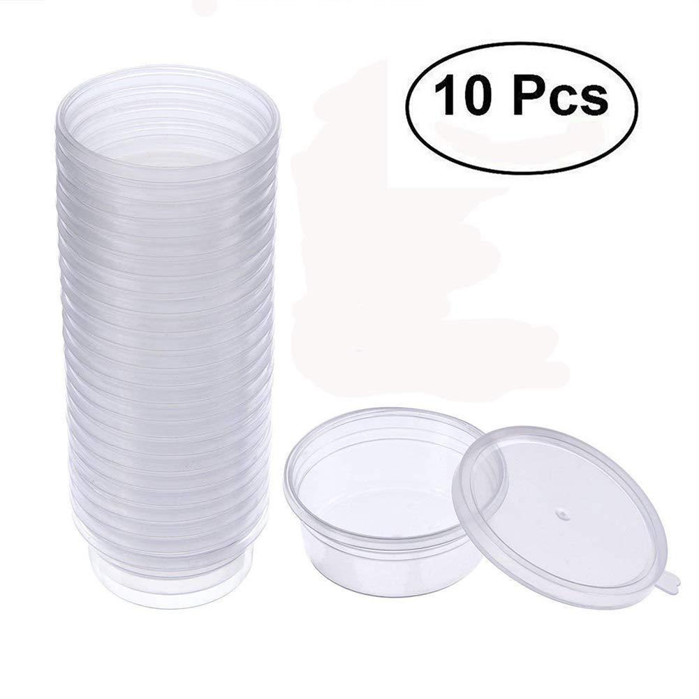 Kentop 10pcs Slime contenitore Slime Box contenitore, floam Beads contenitore in auslaufsichere mucose trasparente in plastica contenitore con coperchio mucose