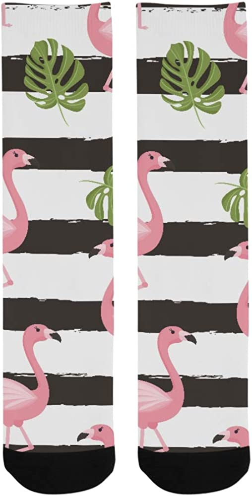 Popular Summer Pink Cool Cute Flamingo Crazy Dress trouser Sock For Men Women