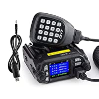 QYT KT-8900D 25W Dual Band Mini Mobile Transceiver Two-Way Radios136~174/400~480MHz Quadstandby Amateur Car Radio with Extra Speaker+Programming Cable - Lightwish