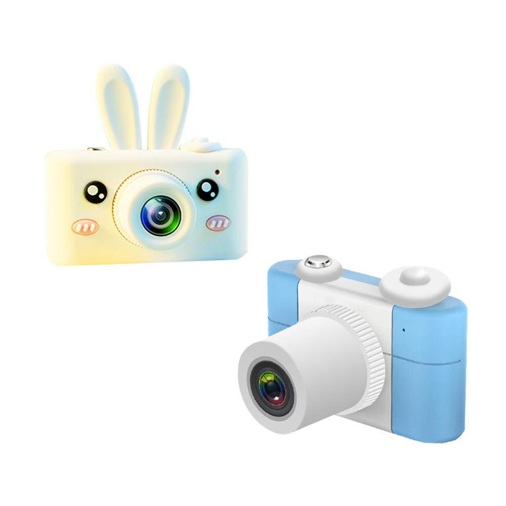 Massage Süße Mini Kinder Digitalkamera 2,0 LCD Vollbild Fotografie Geburtstagsgeschenk Kamera für Kinder,Blau,Rabbit