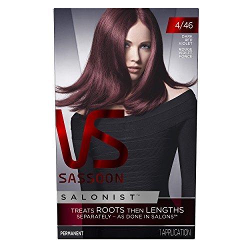 Vidal Sassoon Salonist Hair Colour Permanent Color Kit, 4/46 Dark Red Violet by Vidal Sassoon by Vidal Sassoon