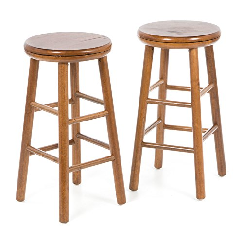 Hardwood Swivel Bar Stools - Set of Two 25