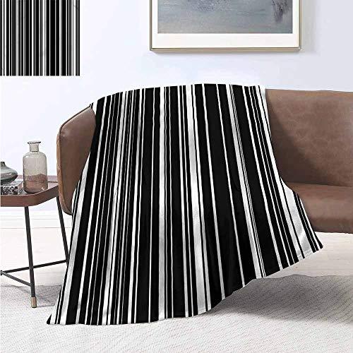 HCCJLCKS Lightweight Blanket Striped Barcode Vertical Stripes Super Soft W54 xL84 Traveling,Hiking,Camping,Full Queen,TV,Cabin]()