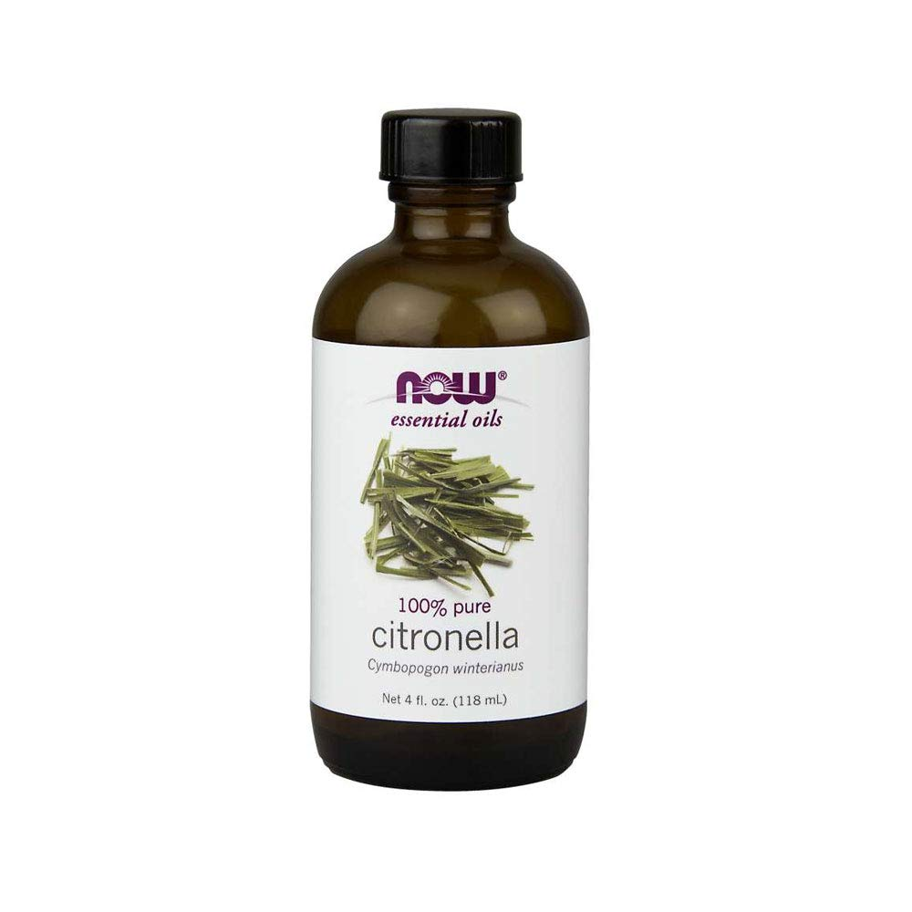 NOW Essential Oils, Citronella Oil, Freshening Aromatherapy Scent, Steam Distilled, 100% Pure, Vegan, 4-Ounce by NOW Foods