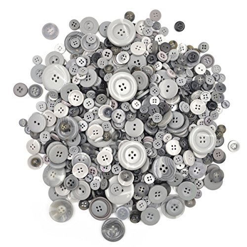 sewing buttons gray - 2