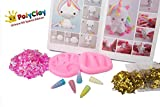 Polyclay Unicorn Modeling Clay Crafting Accessories Kit For Kids 10 PCS DIY Themed Crafting Projects Simple Step-By-Step Create Arts Figures