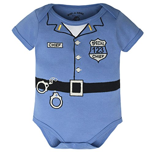 Wan-A-Beez Baby Boys' Fashion Embroidered Novelty Costume Bodysuit