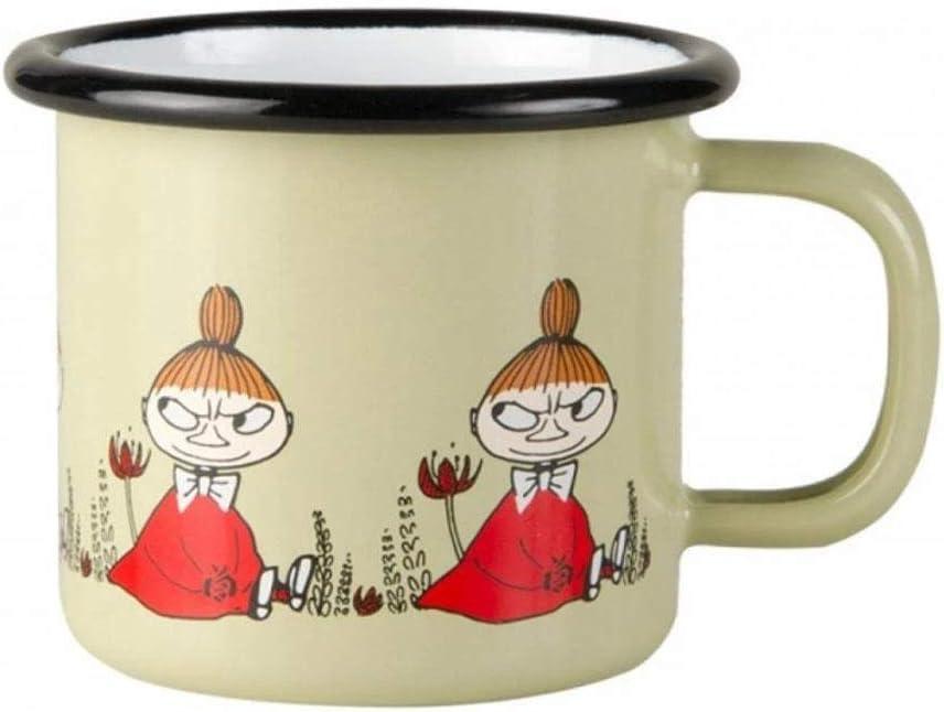 """Muurla Enamel Moomin """"Moomin Friends"""" Little My Mug Cup in Green 15cl 5fl oz"""