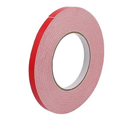 eDealMax 10M Longitud x 10 mm Anchura blanca doble cara auto-adhesivo de la cinta