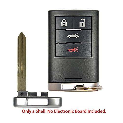 New Repalcement Remote Smart Key Fob Shell Case Housing Button Uncut Blade For Corvette 4B