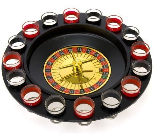 Fairly Odd Novelties FON-10046 Shot Glass Roulette Complete Set drinking game, 16PCS, Red/Black]()