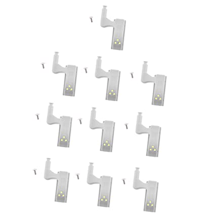 Segolike 10 Pieces Universal Furniture Wardrobe Inner Hinges Led Sensor Light System