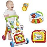 Music baby baby walker baby first step car baby trolley adjustable screw standing learning