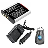 Digital Replacement Battery PLUS Battery Travel Charger for Sony NP-BG1, NP-FG1 - Includes Lens Accessories Pouch