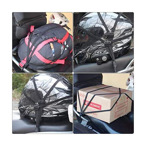 51Vcjs0QKfL HUOHUOHUO Gepäcknetz Elastisch,Gepäcknetz Fahrrad,Gepäckspanner mit Haken Fahrrad,Spannseil mit Haken Verstellbar…