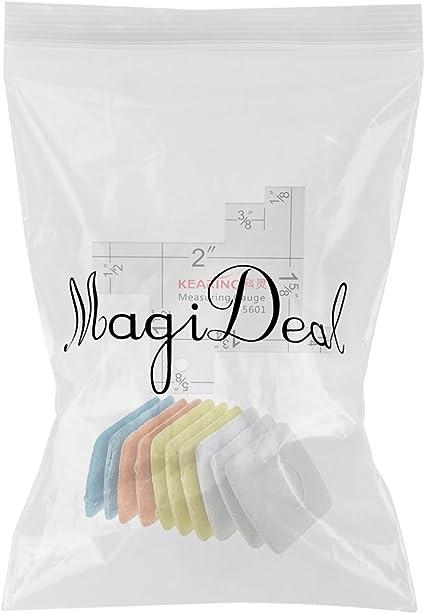 MagiDeal R/ègle de Tailleur Gauge Ruler Outils de Mesure Coudre 10pcs Craie Tissu Couture