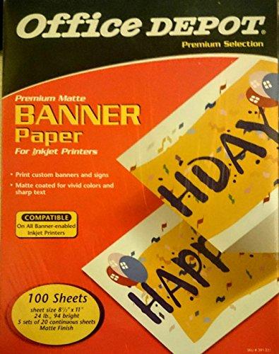Premium Matte Banner Paper for Inkjet Printers - Banner Paper Printers