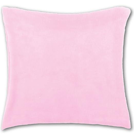 Funda de cojín Manta 50 x 50, poliéster, rosa - hellrosa ...