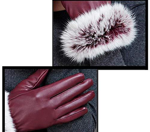 Morbidi Fashion Ride Touchscreen In Invernali Ragazza Hx Kaffee Warm Pelle Guanti Windbreak Spessa Chic fAPqTWTHB